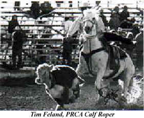 Tim Feeland, PRCA Calf Roper uses Breakaway Stirrups by Saddle Technology Incorporated